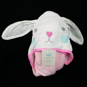 Bunny Infant Hooded Towel 100% Cotton